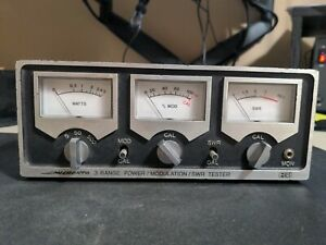 MICRONTA MODEL 21-522 3 RANGE POWER MODULATION SWR TESTER METER for CB HAM RADIO