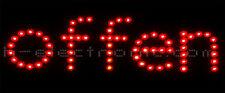 LED Schilder Offen  geöffnet Reklame Schild Neon  WOW Blinken
