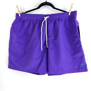 Polo Ralph Lauren Traveler Swim Trunks Size 2XL Purple NEW with TAGS