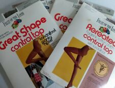 Vtg Fruit of Loom Pantyhose Lot Control Top Great Shape Aereated nude leg model