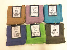 All For You Kitchen Towel Set (Pack of 12, 6 Colors) 11�x11� 100% Cotton Bar Rag