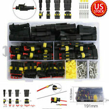 26Sets Cables Adapters Sockets 1/2/3/4Pin Electrical Wire Connector Plug Set