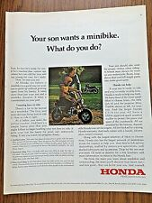 1972 Honda Motorcycle Ad Son Wants a Minibike What do you Do? Trail-50 CT-70