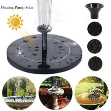 Solar Powered Floating Pump Water Fountain Birdbath Home Pool Garden Decor Kits