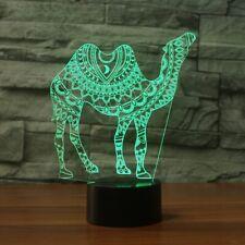 3D Camel Night Light 7 Color Change LED Desk Lamp Touch Room Home Decor Gift