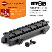 20mm weaver rail riser mount base with 6 slot weaver rail costume vision nocturne, etc.