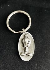 Fine Pewter Silver Tweety Bird Sylvester the Cat Cartoon Keychain A
