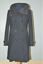 Beautiful H & M navy wool coat double breasted Size 8 BNWOT