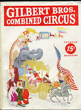 GILBERT BROS. COMBINED CIRUCUS PROGRAM 1943