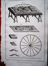 21-38-42 Gravure 18e Diderot et d'Alembert glaces le dresser au banc de roüe