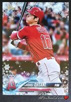 Shohei Ohtani 2018 Topps Holiday Mega Winter Rookie Card Los Angeles Angels RC