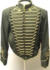 "Men's Army Military Hussar Jacket Olive With Gold Braiding In Chest 42"",44"",46"""