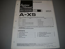 PIONEER A-X5 STEREO AMPLIFIER, ORIGNAL PAPER MANUAL