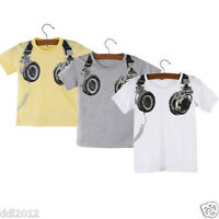 Toddler Kids Baby Boys Clothes Summer Casual Short Sleeve T-shirt Tops 2-7 Years