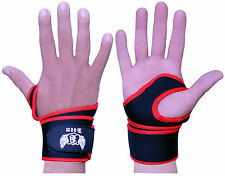 Padded Wrist Wraps Weight Lifting Neoprene Gym Training Support Straps Gloves