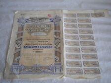 Vintage share certificate Stocks Bonds Societe belge electrique et industriel