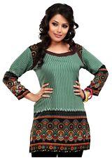 UK STOCK- Women Casual Indian Short Kurti Tunic Kurta Top Shirt Dress 55C