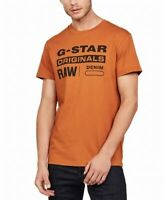 G-Star Mens T-Shirt Almond Brown Size Large L Logo Crewneck Graphic Tee $50 #092