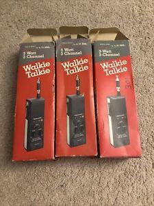 """3 Ct Vintage Realistic TRC-219 3 Way Radio """"Stranger Things Walkie Talkie""""TESTED"""