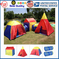 Portable Kids Indoor Outdoor Play Tent Crawl Tunnel Set 5 in 1 Tunnel Tent NEW