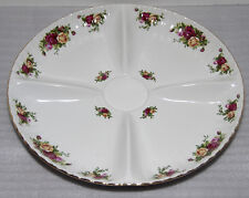 "Royal Albert Old Country Roses Chip & Dip 14 1/2"" Bowl/Plate"