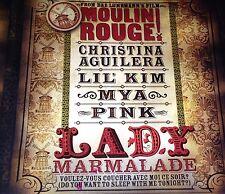 Christina Aguilera Lil' Kim Mya Pink Lady Marmalade CD Single Rare Moulin Rouge