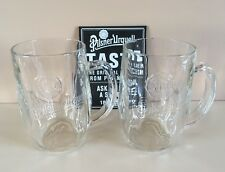 2 x New Pilsner Urquell Pint Tankard Glasses Ce Stamped Pub Shed Bar Man Cave