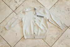 NWT Women's Joseph A Solid Beige ¾ Sleeve Cardigan Sweater Size M