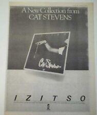 "CAT STEVENS IZITSO 1977 UK Poster size Press ADVERT 16x12"""