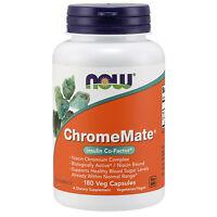 NOW Foods Chromemate 180 Veg Caps | Chromium Polynicotinate Glucose Metabolism