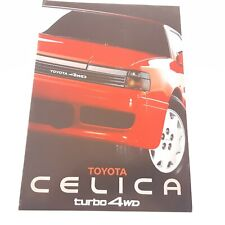 Brochure 02/1988 TOYOTA CELICA TURBO 4WD  : catalogue 20 pages Genève