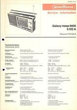 Nordmende Service Manual für Galaxy mesa 6600  3.102A