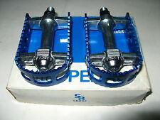 """NOS blue/silver SR MTP-130 Pedals Old School Vintage BMX 1/2"""" haro gt kuwahara"""