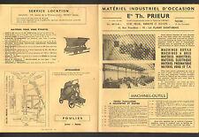 """LA PLAINE-SAINT-DENIS (93) MACHINES-OUTILS à BOIS ... """"Ets. Th. PRIEUR"""""""