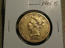 1905 S $10 EAGLE IN NICE CONDITION.