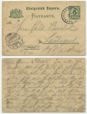 53059 - Bayern Ganzsache P 56 (01) - München 19.2.1902 nach Laubegast