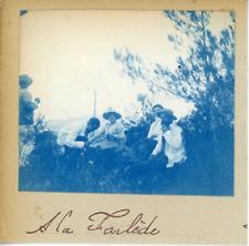 France, A La Farlède  Vintage print  cyanotype  7x8  Circa 1880