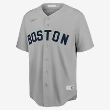 Nike MLB Boston Red Sox Ted Williams Cooperstown Jersey Grey Navy Blue Men's M-L
