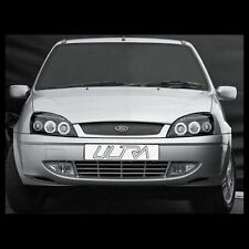FORD FIESTA (1999-2002) BLACK Halo ANGEL EYE Proiettore Fari Anteriori luci