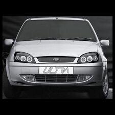 Ford Fiesta (1999-2002) Black Halo Angel Eye Projector Front Headlights Lights