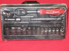 """SNAP-ON TOOLS 1/4"""" DRIVE RED 17 PIECE METRIC GENERAL SERVICE SET BRAND NEW"""