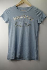 Hollister Vintage Girls Womens Ladies T Shirt Size Medium M Colour Blue