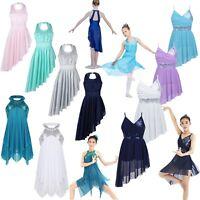 Girl Lyrical Ballet Dance Dress Kid Ballerina Dancers Costume Leotard Dance Wear