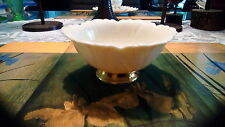 Lenox small footed bowl, nut dish. Cream with gold trim