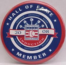 2008 Baseball Hall Fame Induction Weekend Button Pin Goose Gossage Southworth