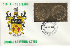 GB Locals - Staffa 5190 - 1980 US COINS 1856 DOUBLE EAGLE on FIRST DAY COVER