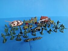 TOY SOLDIERS PLAY-SET~ 179 PIECES= SOLDIERS+TRUCKS+MILITARY ITEMS~ Vtg 1974-82