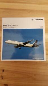 """Herpa 533621 - 1/500 Lufthansa Airbus A321 """"Die Maus"""" - Neu"""