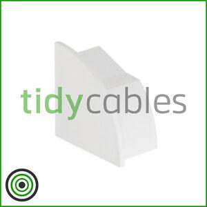 D-Line 22x22mm Quadrant TV Floor Cable Tidy - Left-Hand End Cap