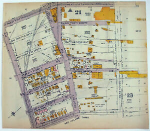 Original 1922 Maps: Gravesend Brooklyn: Bath to Warehouse from 23rd to 27th Ave